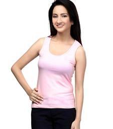 Buy Tank Top : Light Pink top online