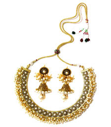 Buy Basra Pearl Choker Necklace & Jumka necklace-set online