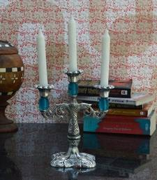 Buy Decorative Sky Blue Candle stand candle online