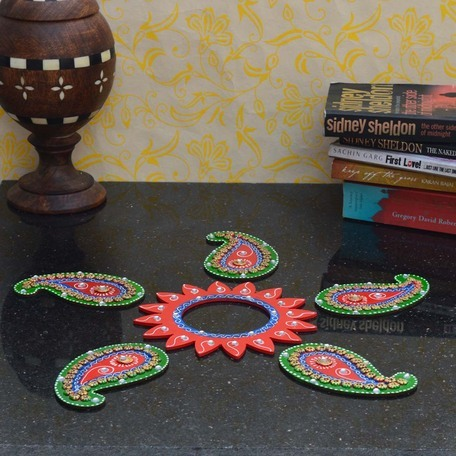 Buy decorative floor rangoli keri design online for Floor rangoli design