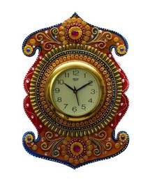 Buy Kundan Studded Wall Clock wall-clock online