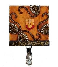 Buy Papier-Mache Splendid  Lord Ganesha Key Holder wall-art online