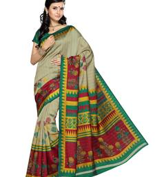 Buy Multi Color Art Silk Saree with Blouse printed-saree online