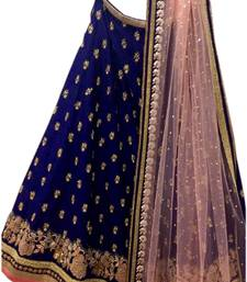 Buy Multicolor embroidered silk unstitched lehenga with dupatta lehenga-choli online