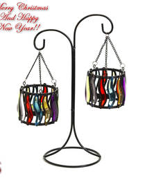 Buy Weight Balance Colored Glass Tea Light Holders anniversary-gift online