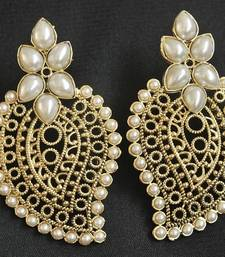 Pearl colour Hand crafted Earrings shop online