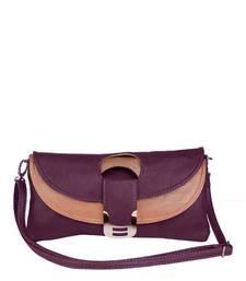 Buy Just Women - Royal Purple PU Leather Purse wallet online