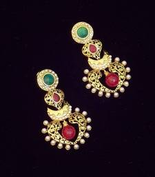 Buy Traditional Pearl And Colored Stone Earring danglers-drop online