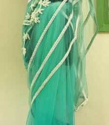 Buy Turquise Orbit net-saree online