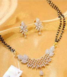 Buy Gorgeous looking american diamond mangal sutra mangalsutra online