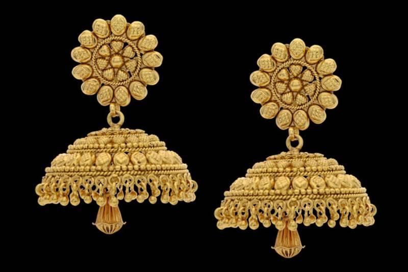 Buy Beautiful Plain Gold Plated Jhumka Online