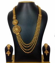 Buy Beautiful Venky Style High Gold Polish Haram Set necklace-set online