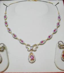 Buy Ruby Red AD-CZ Necklace 015 necklace-set online