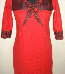 Buy Stylish block print Kurti kurtas-and-kurti online