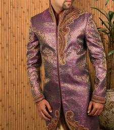 Buy Purple tanchoi indowestern suit indo-western-dress online