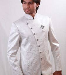 Buy White brocade indowestern suit indo-western-dress online