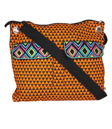 Buy Orange Canvas cross body sling anniversary-gift online