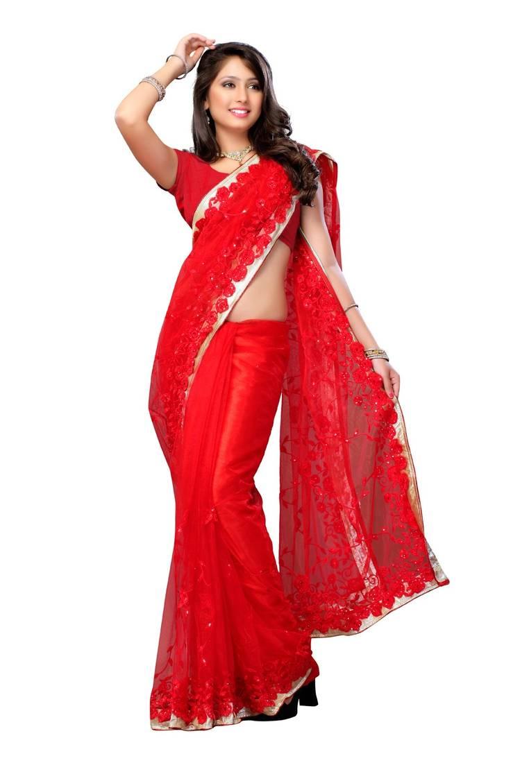 Buy Sonakshi Sinha Bollywood Replica Net Red Party Wear