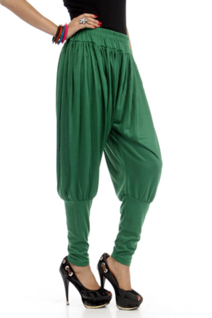 Buy Dee Fashion House Dark Green Viscose Lycra Jodhpurs Online
