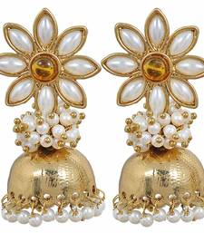 Buy Amazing Yellow Pearl Jhumki Earrings jhumka online
