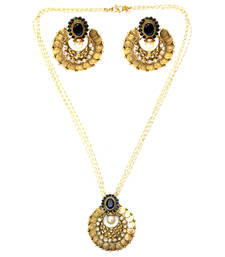 Buy Blue Coin Necklace Set necklace-set online