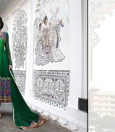 Buy Bottle Green  Georgette Designer Ready made anarkali  dress-material online
