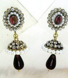 Buy Victorian Mini Tokri Earring Violet Shady Earring online