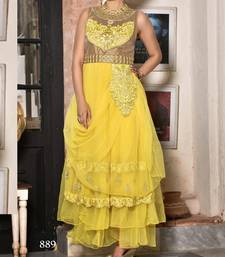 Buy Stylist Yellow & Gold  Gown bridal online