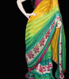 Buy multi coloured chiffon-saree online