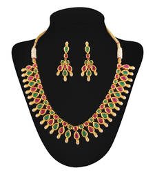 Buy Elegant Gold plated Antique set necklace-set online