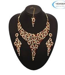 Buy Vendee Fashion Unique Designer Wedding N necklace-set online