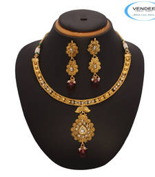 Buy Vendee Fashion Marvelous Copper Necklace necklace-set online