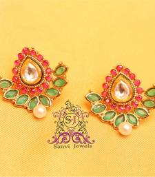 Buy Gorgeous Ruby Emerald Kundan Studs stud online