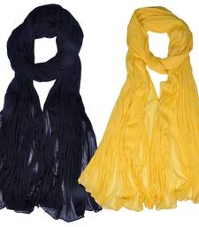 Buy Combo Pack of 2 Chiffon Dupatta Black & Yellow stole-and-dupatta online