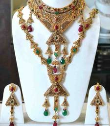 Buy Red Green Full Bridal Set necklace-set online, Buy necklace-sets online