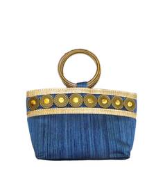 Buy Coin Embedded Boat Shaped (small shape) Bangle Bag (Blue) clutch online