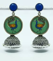 Buy miniature peacock jhumki-GREEN jhumka online