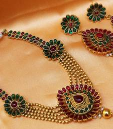 Buy Lovely kempu necklace necklace-set online