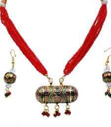 Buy Red and Green Necklace Set Gift For Mother gifts-for-mom online