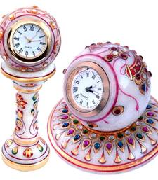 Buy Gold Paint Marble Clock n Round Clock Mothers Day gifts-for-mom online
