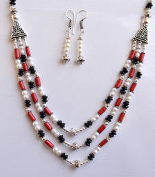 Buy Multicolour Agate Necklace set necklace-set online
