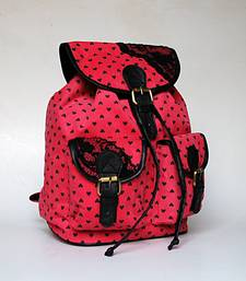 Buy Pink Heart Backpack backpack online