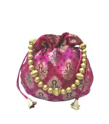 Buy Brocade Small Potli (Pink) potli-bag online