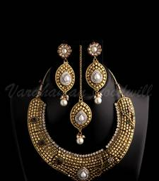 Buy dulhan neckalce earrings set vgnl 383 necklace-set online