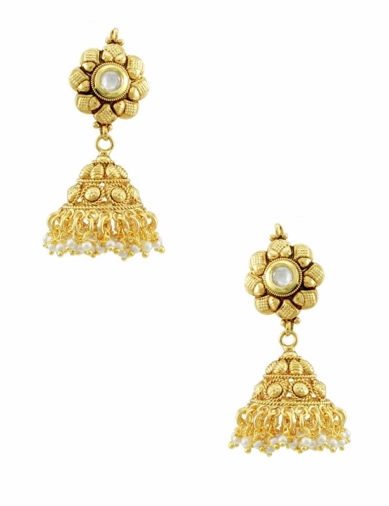 Buy Vilandi Kundan Jhumka Earrings Online
