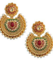 Buy Ethnic Kundan like Earrings with Pearls by ADIVA a74 cb26 danglers-drop online