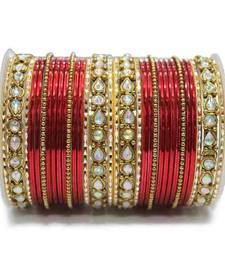 Buy Red zircon bangles-and-bracelets karva-chauth-jewellery online