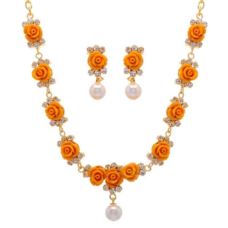buy orange topaz necklaces