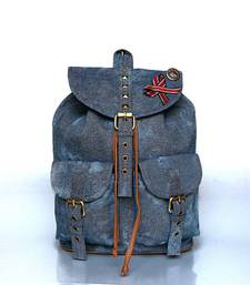 Buy Denim Studded Backpack backpack online