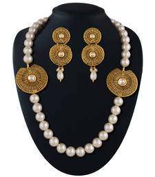 Buy Splendid Gold plated kundan set necklace-set online